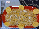 Aval Nanachathu / Sweetened Beaten Rice Flakes / Sweet Poha
