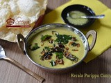 Kerala Nadan Parippu Curry / Kerala Dal Curry