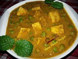 Matar Paneer Masala Recipe / Green Peas Cottage Cheese Masala Recipe