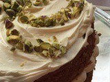 P is for Pistachio, Cardamom & White Chocolate Cake