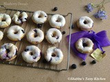 Baked Blueberry Donuts With Lemon Glaze