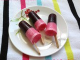 Blueberry - Rose Milk Popsicles