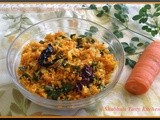 Carrot- Muringayila/ Drumstick Leaves Thoran