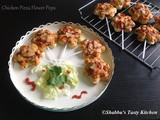Chicken Pizza Flower Pops