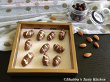 Chocolate Covered Dates / Chocolate Dates With Almonds