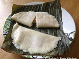 Ela Ada / Elayappam/ Steamed Rice Parcels with Coconut - Jaggery Filling