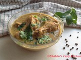 Kozhi Kurumulaku Varutharacha Curry / Chicken in Roasted Coconut- Pepper Gravy