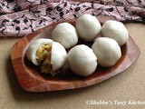 Pazham Kozhukatta / Steamed Rice Dumplings with Sweet Banana Filling