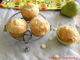 Pear and White Chocolate Muffins