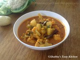 Potato and Cauliflower Curry with Coconut Milk ( Urulakizhangu - Cauliflower Thengapal Curry )