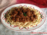 Saucy Beef With Ribbon Noodles / Pasta