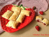 Strawberry Puff Pastry Pillows