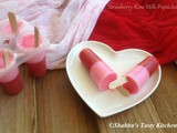 Strawberry - Rose Milk Popsicles