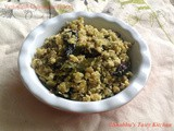 Vazhapindi Cherupayar Thoran / Banana Stem and Green Gram Thoran