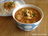 Vellarikka - Chakkakuru Curry / Yellow Cucumber - Jackfruit Seeds Curry