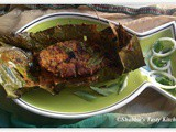 Ayakoora Pollichathu ( King Fish Roasted In Banana Leaves)