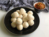 Idli Rava Pidi / Steamed Rice Rava Dumplings