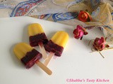 Mango - Blueberry Popsicles