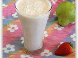 Pear - Strawberry Milkshake