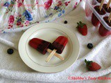 Strawberry - Blueberry Popsicles