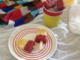 Strawberry - Pineapple Popsicles
