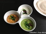 Tricolor Coconut Chutneys