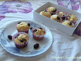 White Chocolate and Blackberry Muffins