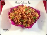 Purple Cabbage Rice | Cabbage Rice