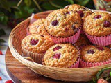 Raspberry Muffins Recipe with Oats