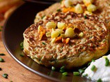 Zucchini Pancakes with Sweet Corn
