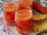 Carrot Pineapple and Orange Juice