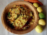 Lemon Carrot Rice–Navarathri recipes (Day 4)