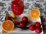 Plum and Orange Juice