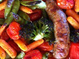 4-Ingredient Vegetable Tray Sausage Sheet Pan Dinner