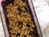 Banana Blueberry Baked Oatmeal {Small Batch, Gluten-Free, Vegetarian, Vegan Option}
