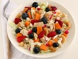 Chicken Salad with Fruit, Nuts and Sweet Potato