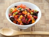 Chunky Plum Salsa Cruda Highlights Summer Fruits and Vegetables