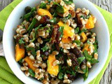 Farro Date Salad with Mango and Arugula {Vegetarian}