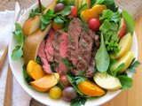 Flap Steak Salad Bowl for #WeekdaySupper