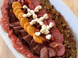 Football-Shaped Meat and Cheese Plate and Easy Football Food for #SundaySupper