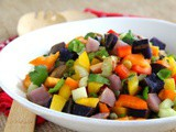 Grilled Rainbow Potato Salad for #SundaySupper