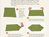 How to Fold Your Holiday Napkin Like a Fir Tree
