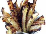 Low-Carb Baked Kohlrabi Fries (Vegan)