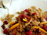Night Cereal: Chai Oatmeal with Bacon, Mango, Dates and Raspberries