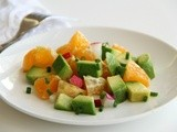 Pixie Dust Salad with Avocados, Pixie Tangerines and Radishes for #SundaySupper