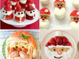 Santa-Shaped Food for Holiday Festivities