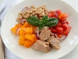 Tuna, Tomato, Bean and Basil Salad for #WeekdaySupper #ChooseDreams