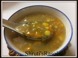 Sweet Corn Soup with fresh corn kernels