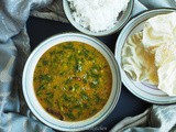 Palak Sambar / Spinach-lentil Curry