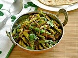 Bhindi Do Pyaza - Okra Onion Stir Fry